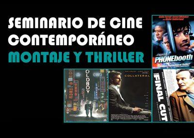 1ª Edición del Seminario de Cine Contemporáneo: Montaje y Thriller