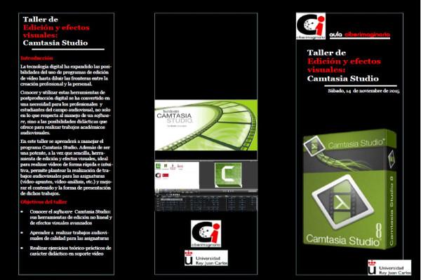 Triptico del Taller Edición y Efectos Visuales: Camtasia Studio