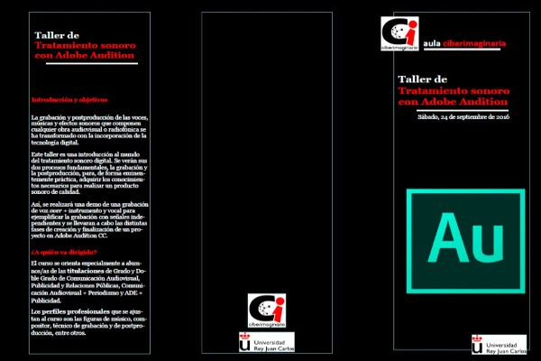 Triptico del Taller de Tratamiento Sonoro con Adobe Audition
